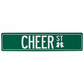 """Cheerleading Aluminum Room Sign Cheer Way (4""""x18"""")"""