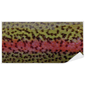 Fly Fishing Premium Beach Towel - Rainbow Trout