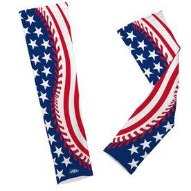 Baseball Printed Arm Sleeves American Flag Ball