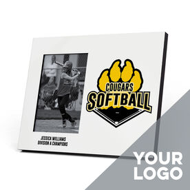 Softball Photo Frame - Custom Logo