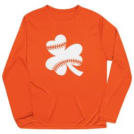 Softball Long Sleeve Performance Tee - Shamrock Softball Stitches
