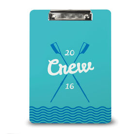 Crew Custom Clipboard Crew Crossed Oars River