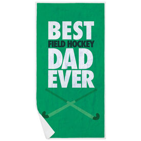 Field Hockey Premium Beach Towel - Best Dad Ever