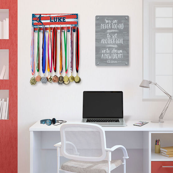 Soccer Hooked on Medals Hanger - Personalized USA