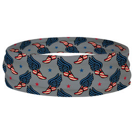 Track and Field Multifunctional Headwear - Patriotic Winged Foot Pattern RokBAND