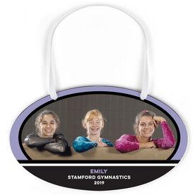 Gymnastics Oval Sign - Team Photo