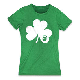 Women's Everday Tee Shamrock With Kettlebell
