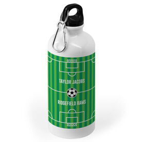 Soccer 20 oz. Stainless Steel Water Bottle - Field