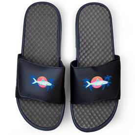 Fly Fishing Navy Slide Sandals - Ghosts of the Flats