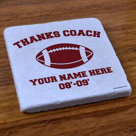 Thanks Coach Football - Stone Coaster