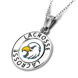 Lacrosse Circle Necklace Your Logo