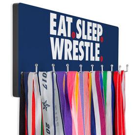 Wrestling Hooked on Medals Hanger - Eat Sleep Wrestle