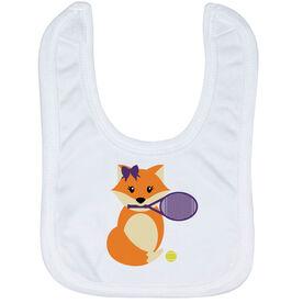 Tennis Baby Bib - Tennis Fox