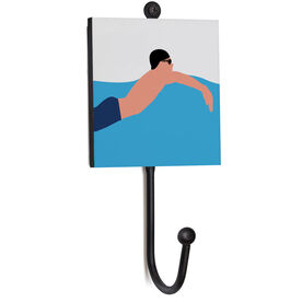 Swimming Medal Hook - Up-close Swimmer Male