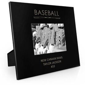 Baseball Engraved Picture Frame - Word