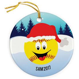 Softball Porcelain Ornament Merry Christmas Mr. Softball