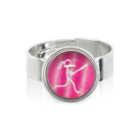 Softball Girl Stick Figure SportSNAPS Ring