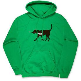 Guys Lacrosse Standard Sweatshirt - Max The Lax Dog