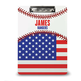 Baseball Custom Clipboard Baseball Name And Team Name With Flag