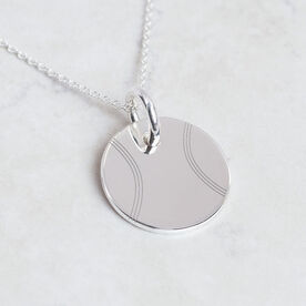 Sterling Silver 20mm Circle Necklace Tennis