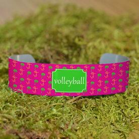 Volleyball Cuff Bracelet (Narrow) Palm Tree Volleyball