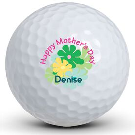 Mother's Day Flowers Golf Balls