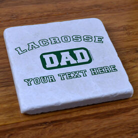 Lacrosse Dad (Block Logo) - Stone Coaster