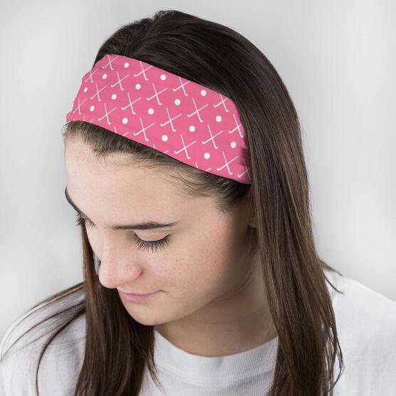 Field Hockey Multifunctional Headwear - Crossed Sticks and Ball Pattern RokBAND