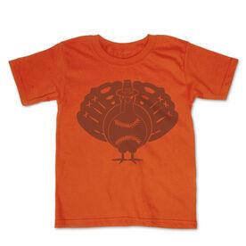 Softball Toddler Short Sleeve Tee - Turkey Player