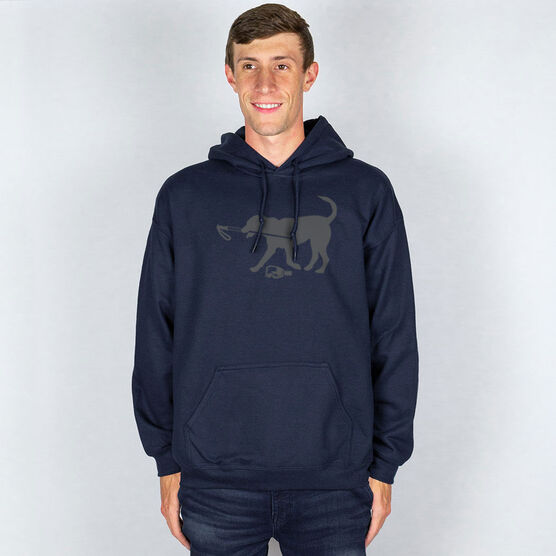 Skiing Hooded Sweatshirt - Ski Dog