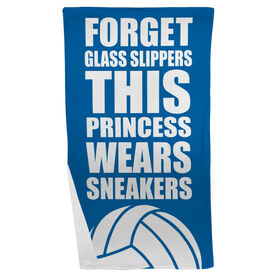 Volleyball Beach Towel Forget Glass Slippers This Princess Wears Sneakers