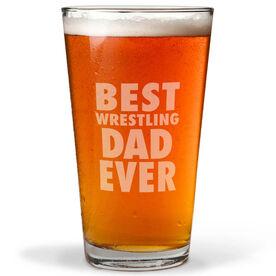16 oz. Beer Pint Glass Best Wrestling Dad Ever