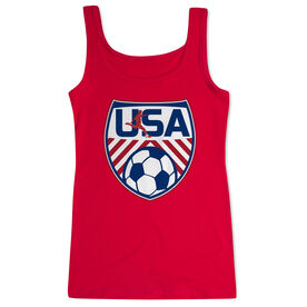 Soccer Women's Athletic Tank Top - Soccer USA