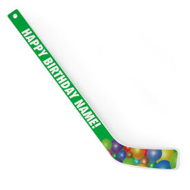 Personalized Knee Hockey Player Stick Happy Birthday Balloons