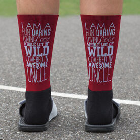 Printed Mid-Calf Socks - That's My Uncle