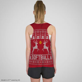 Softball Racerback Pinnie - Christmas Knit