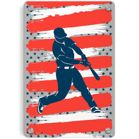 Baseball Metal Wall Art Panel - USA Batter