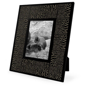 Swimming Engraved Picture Frame - Swim Repeat