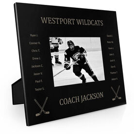 Hockey Engraved Picture Frame Team Name with Roster (Coach)