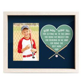 Baseball Premier Frame - Dear Mom Heart