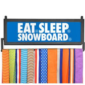 AthletesWALL Medal Display - Eat Sleep Snowboard