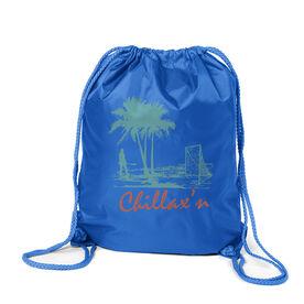 Lacrosse Sport Pack Cinch Sack Chillax'n Beach Girl