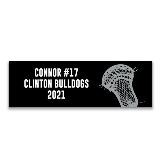 """Guys Lacrosse 12.5"""" X 4"""" Removable Wall Tile - Personalized Team"""