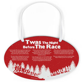 Running Oval Sign - Twas The Night Before The Race