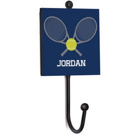 Tennis Medal Hook - Crossed Rackets With Ball