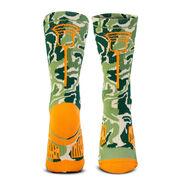 Guys Lacrosse Woven Mid-Calf Socks - Woodland Camo