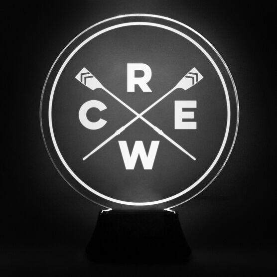 Crew Acrylic LED Lamp Crossed Oars