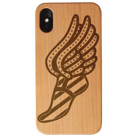 Track and Field Engraved Wood IPhone® Case - USA Winged Foot