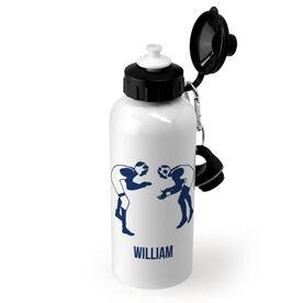Wrestling 20 oz. Stainless Steel Water Bottle - Wrestling Silhouettes