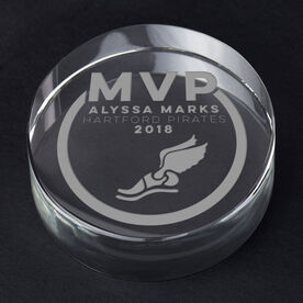 Track and Field Personalized Engraved Crystal Gift - MVP Award
